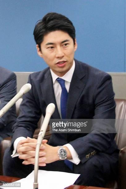 Yasutaka Nakasone grandson of former Prime Minister Yasufumi Nakasone speaks during a press conference announcing his run for th Lower House at Gunma...