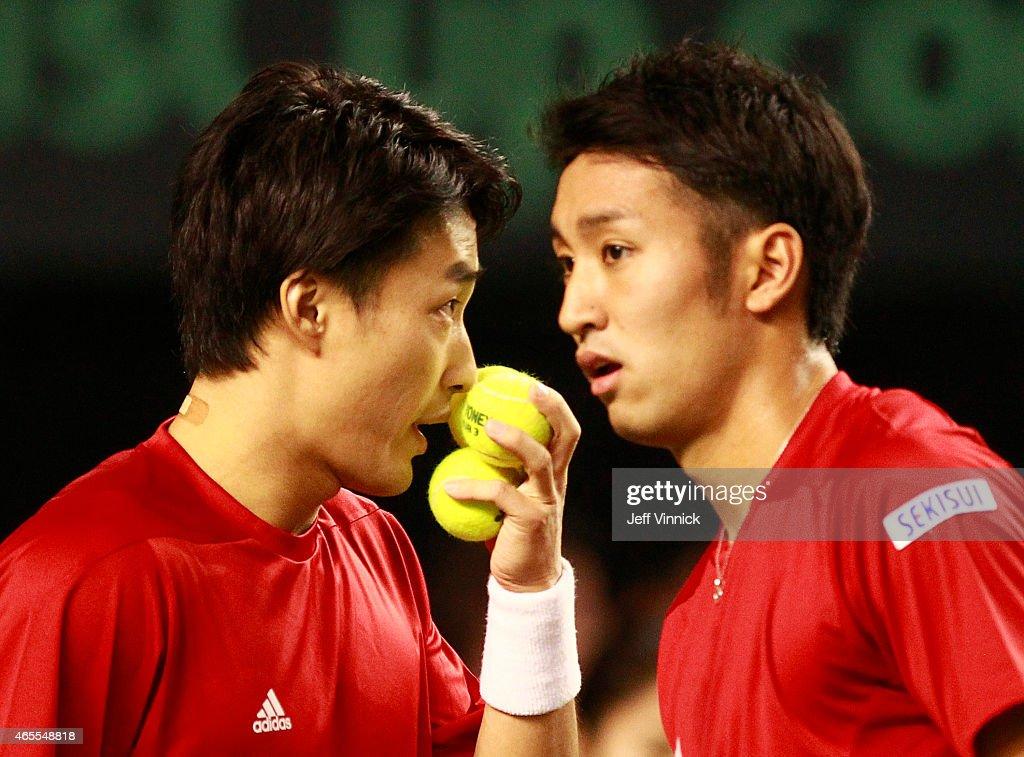 Davis Cup: Canada v Japan Day 2 : News Photo