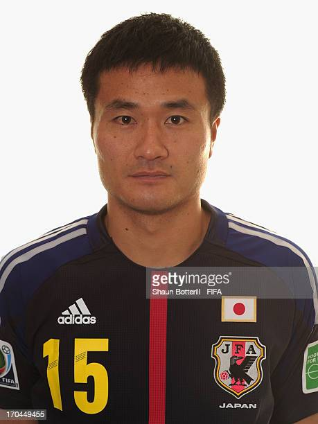 Yasuyuki Konno of Japan poses for a portrait at the Kubistchek Plaza Hotel on June 13 2013 in Brasilia Brazil