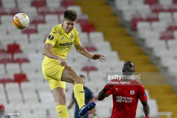 Yatabare of Demir Grup Sivasspor in action against Juan Fo during UEFA Europa League Group I match between Demir Grup Sivasspor and Villarreal at the...