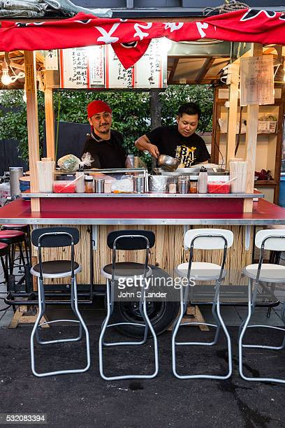 A yatai is a small mobile food stall typically selling ramen yakitori or oden The name literally means 'shop stand' The stall is set up in the early...