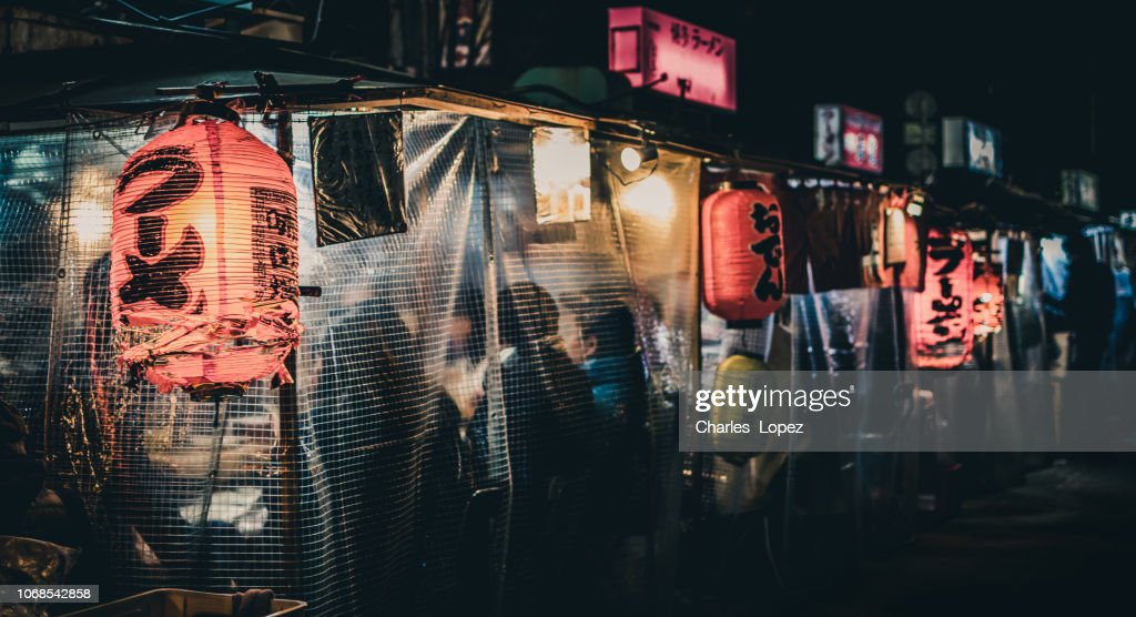 「日本屋台、夜遅く福岡県 : ストックフォト