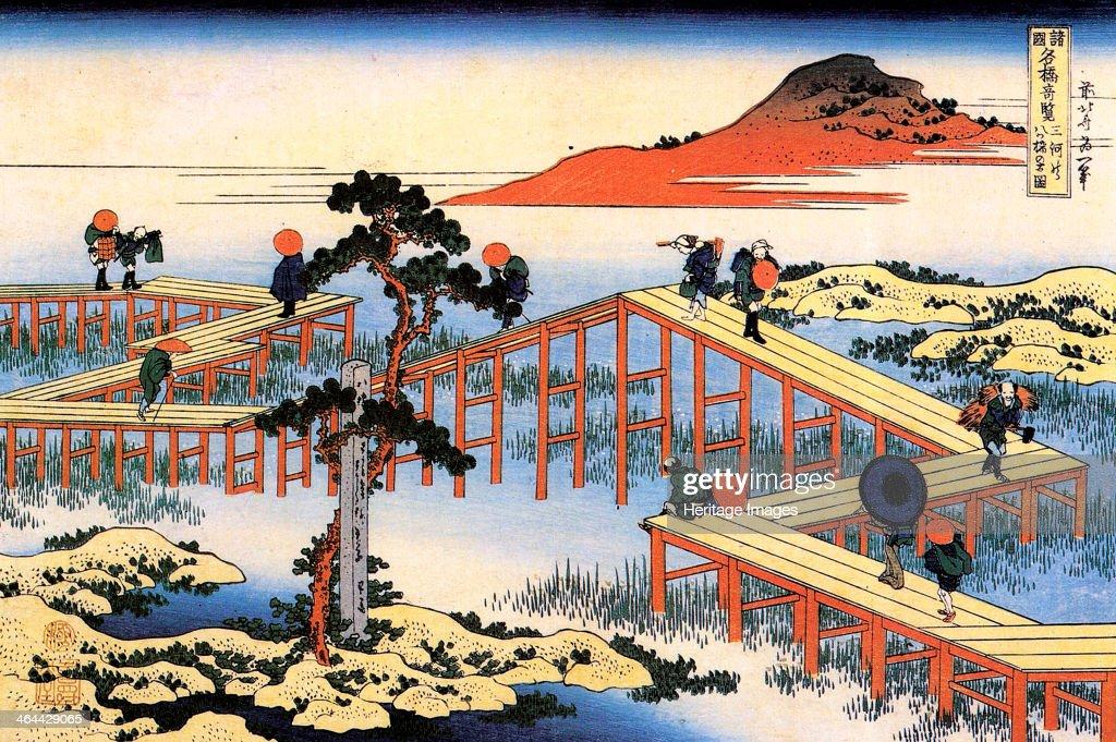 Yatsuhashi in Mikawa Province, c1835. : News Photo