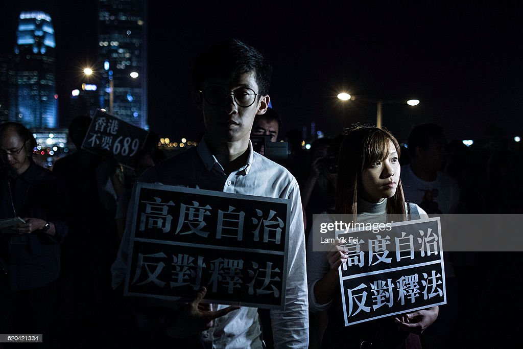Hong Kong's Pro-Democracy Lawmakers Blocked From Taking Oath : News Photo