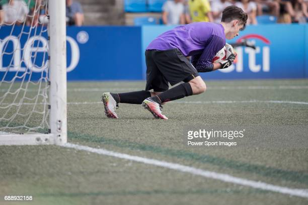 Yau Yee League Select's William Donker catch the ball during their Main Tournament match part of the HKFC Citi Soccer Sevens 2017 on 27 May 2017 at...