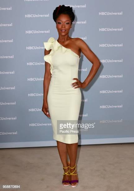Yaya DaCosta attends the 2018 NBCUniversal Upfront presentation at Rockefeller Center