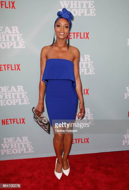 Yaya DaCosta attends the screening of Netflix's 'Dear White People' season 2 at ArcLight Cinemas on May 2 2018 in Hollywood California