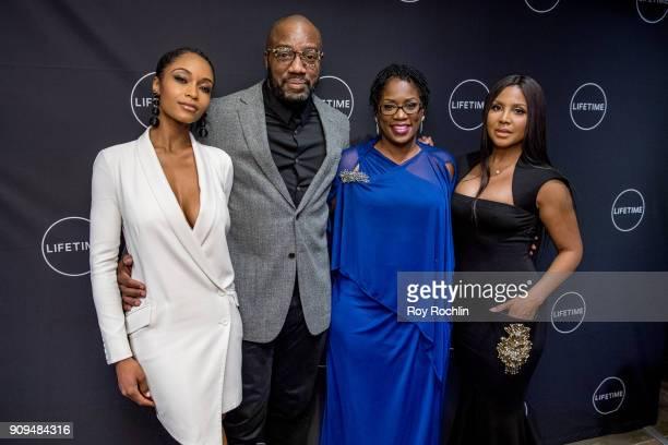 "Yaya DaCosta, Malik Yoba, Antoinette Tuff and Toni Braxton attend ""Faith Under Fire: The Antoinette Tuff Story"" Screening at NeueHouse Madison Square..."