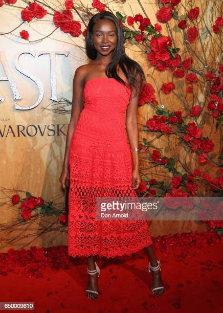 Yaya Deng arrives ahead of the Beauty And The Beast Australian Premiere at State Theatre on March 9 2017 in Sydney Australia