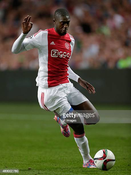 Yaya Sanogo of Ajax during the UEFA Champions League third qualifying round match between Ajax and Rapid Wien on August 4 2015 at the Amsterdam Arena...