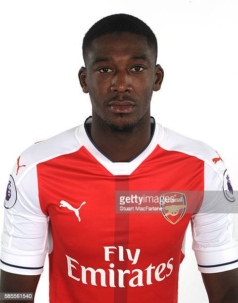 Yaya Sanogo of Arsenal at the 1st team photocall at London Colney on August 3 2016 in St Albans England