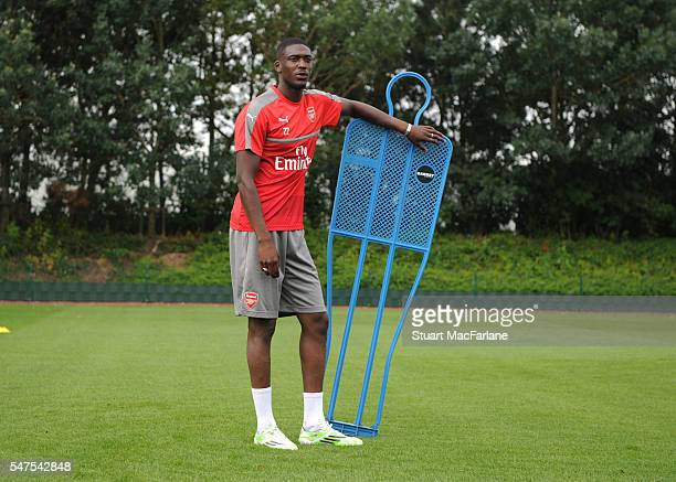 Yaya Sanogo of Arsenal during a training session at London Colney on July 15 2016 in St Albans England