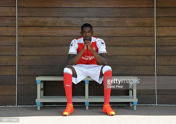 Yaya Sanogo of Arsenal during the Arsenal 1st team photocall at London Colney on August 3 2016 in St Albans England