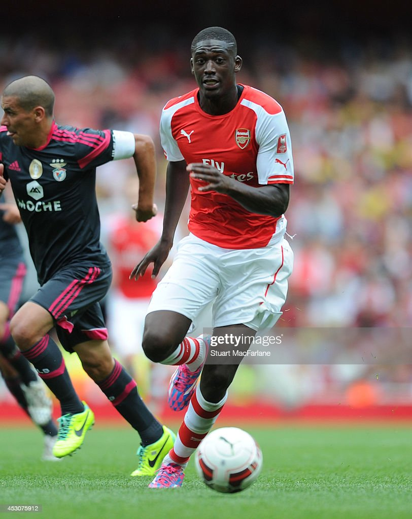 Yaya Sanogo of Arsenal during the match between Arsenal and Benfica at Emirates Stadium on August 2, 2014 in London, England.