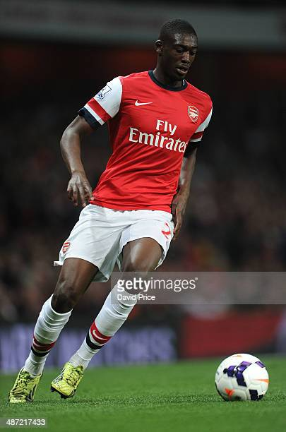 Yaya Sanogo of Arsenal during the match between Arsenal and Newcastle United in the Barclays Premier League at Emirates Stadium on April 28 2014 in...