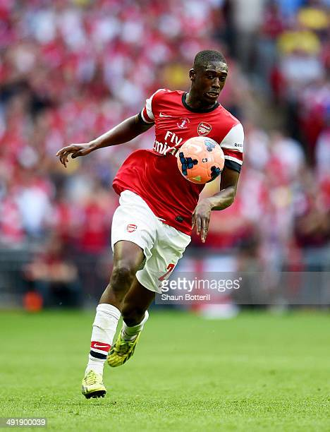 Yaya Sanogo of Arsenal in action during the FA Cup with Budweiser Final match between Arsenal and Hull City at Wembley Stadium on May 17 2014 in...