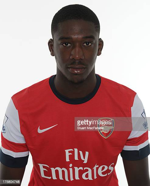 Yaya Sanogo of Arsenal poses during the first team photocall at Emirates Stadium on August 08, 2013 in London, England.