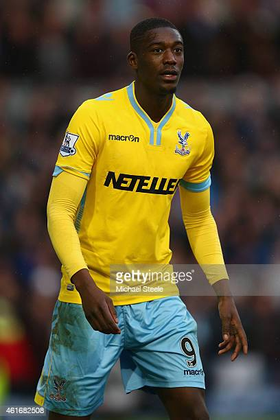 Yaya Sanogo of Crystal Palace during the Barclays Premier League match between Burnley and Crystal Palace at Turf Moor on January 17, 2015 in...