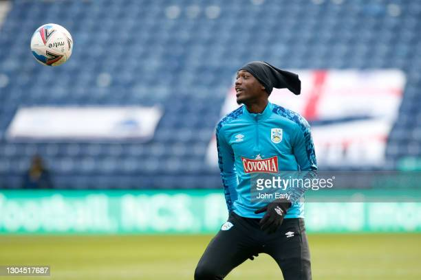 Yaya Sanogo of Huddersfield Town during the Sky Bet Championship match between Preston North End and Huddersfield Town at Deepdale on February 27,...