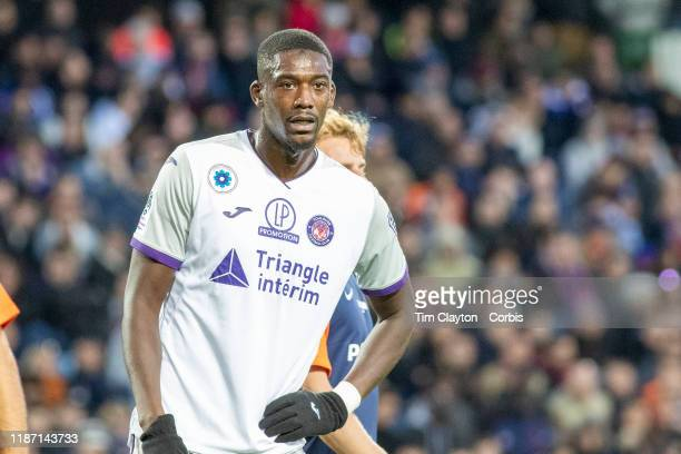 November 10: Yaya Sanogo of Toulouse during the Montpellier Vs Toulouse, French Ligue 1 regular season match at Stade de la Mosson on November 10th...