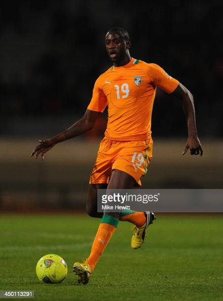 Yaya Toure of Ivory Coast in action during the FIFA 2014 ...
