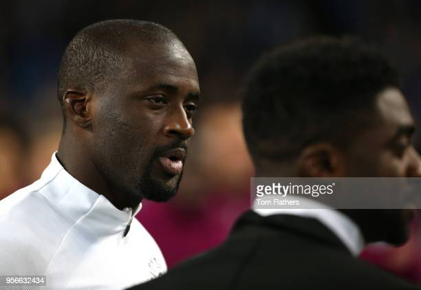 Yaya Toure of Manchester City looks on after the Premier League match between Manchester City and Brighton and Hove Albion at Etihad Stadium on May 9...
