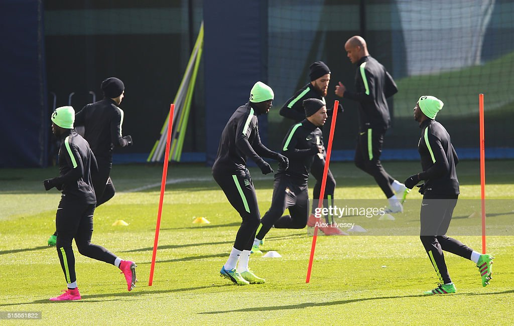 Manchester City Training Session and Press Conference : News Photo