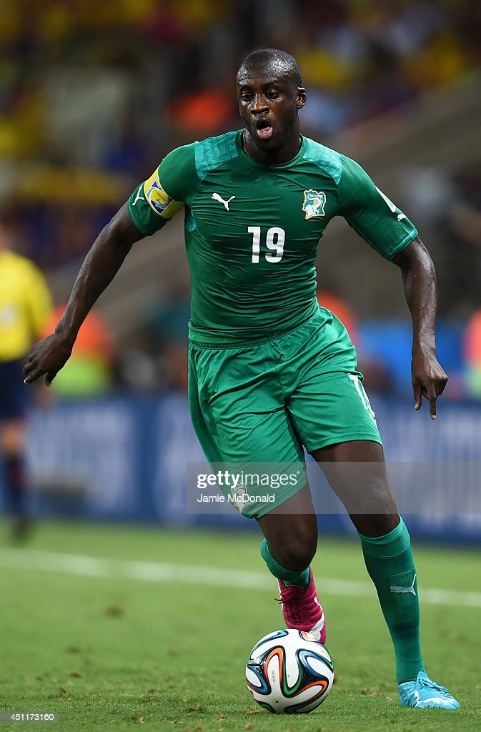 Yaya Toure of the Ivory Coast controls the ball during the ...
