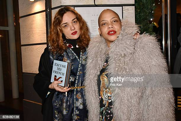 Yaz Bukey and Angie Rubini attend Liza Liwan Exhibition Cocktail at Liza Restaurant on December 7 2016 in Paris France