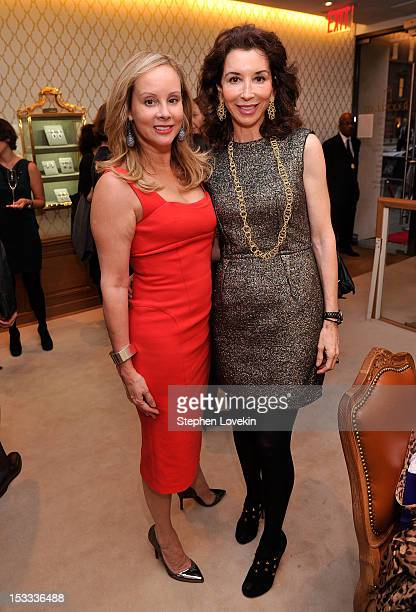 Yaz Hernandez and Fay Fendi attend a cocktail reception for Tracy Paul And Company Presenting Buccellati's Pendant Earring Collection With The...