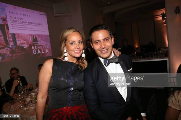 Yaz Hernández and Gabriel RiveraBarraza attend the Glasswing International 10th Anniversary Gala at Tribeca Rooftop on May 18 2017 in New York City