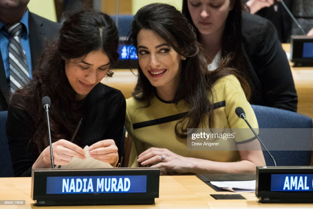 Amal Clooney Addresses UN High Level Event On Bringing ISIL To Justice : News Photo