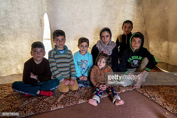 Yazidi lady called Mahia aged 37 and who has five young children 3 boys and 2 girls that range in age from 11 to 2 years old and who are living with...