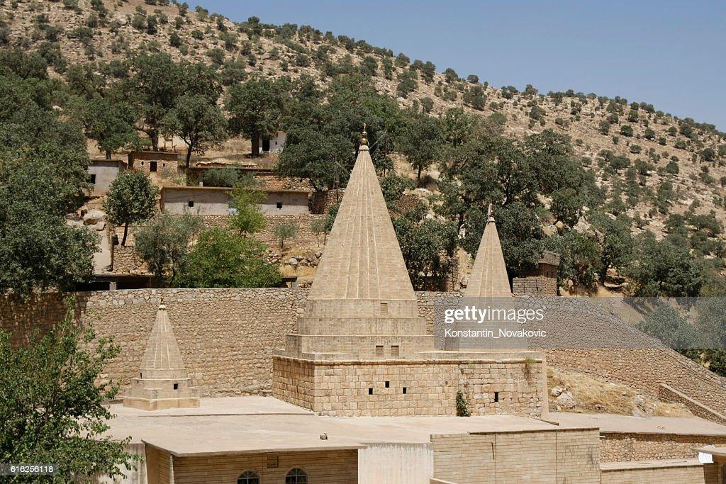 Yazidi shrine in Northern Iraq : Stock Photo