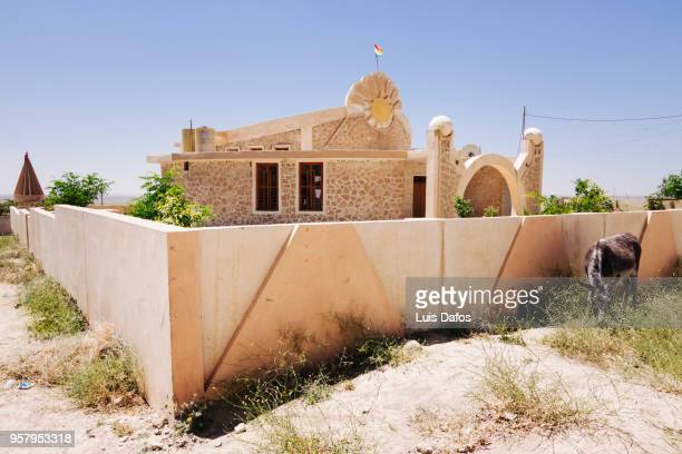 yazidi temple and graveyard - ninawa stock pictures, royalty-free photos & images