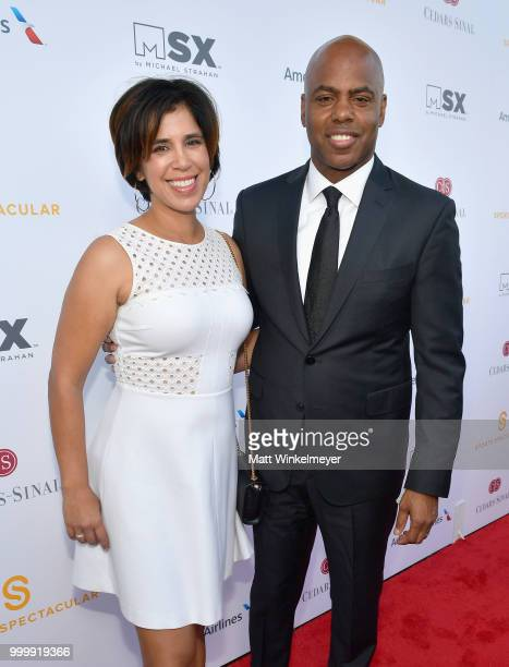 Yazmin Cader Frazier and Kevin Frazier attend the 33rd Annual CedarsSinai Sports Spectacular at The Compound on July 15 2018 in Inglewood California