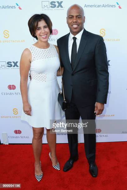 Yazmin Cader Frazier and Kevin Frazier attend the 33rd Annual CedarsSinai Sports Spectacular Gala on July 15 2018 in Los Angeles California
