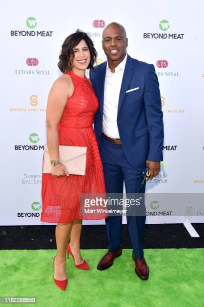 Yazmin Cader Frazier and Kevin Frazier attend the 34th Annual CedarsSinai Sports Spectacular at The Compound on July 15 2019 in Inglewood California