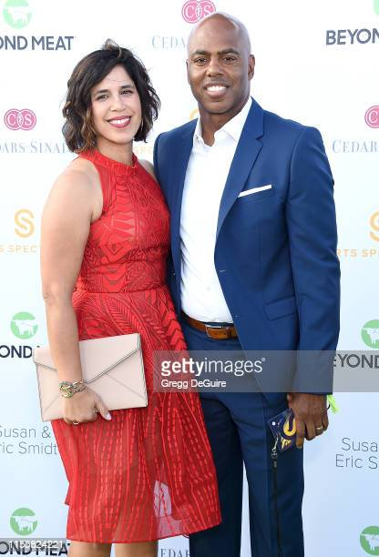 Yazmin Cader Frazier and Kevin Frazier attend the CedarsSinai And Sports Spectacular's 34th Annual Gala Celebration at The Compound on July 15 2019...