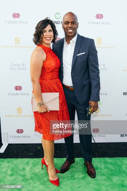 Yazmin Cader Frazier and Kevin Frazier attend the CedarsSinai and Sports Spectacular's 34th Annual Gala at The Compound on July 15 2019 in Inglewood...