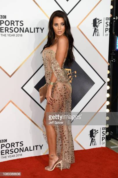 Yazmin Oukhellou attends the 2018 BBC Sports Personality Of The Year at The Vox Conference Centre on December 16, 2018 in Birmingham, England.