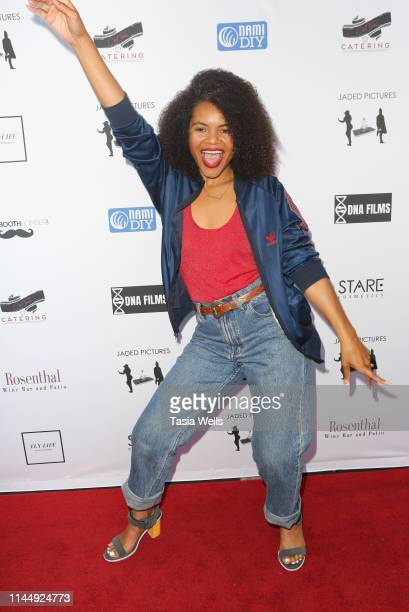 """Yazmin Watkins attends the """"Jaded Pictures"""" Los Angeles Premiere at Raleigh Studios on April 24, 2019 in Los Angeles, California."""