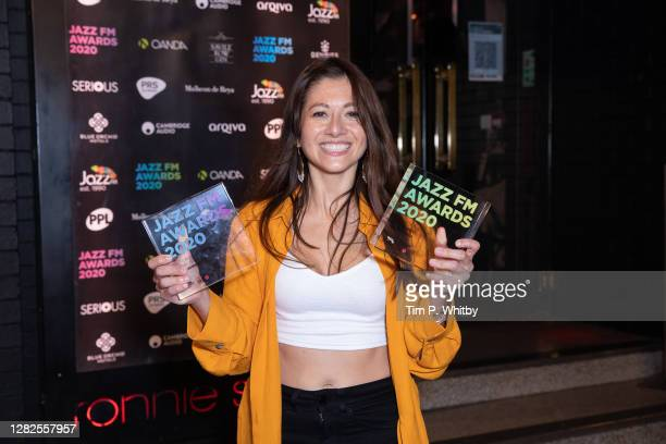 Yazz Ahmed with the awards for Album of the Year and PRS for Music UK Jazz act of the Year during the Jazz FM Awards 2020 at Ronnie Scott's Jazz Club...
