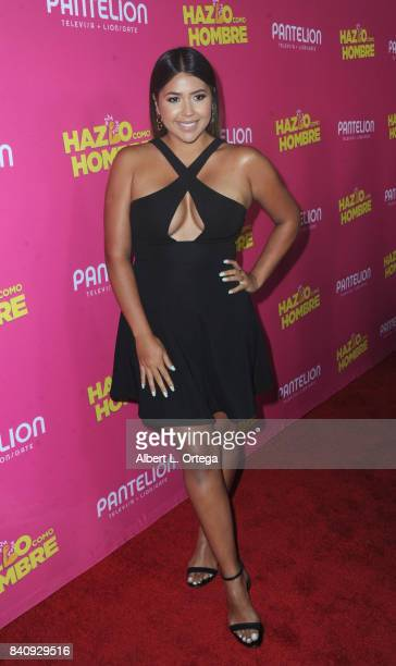 Ydelays arrives for the Premiere Of Pantelion Films' 'Hazlo Como Hombre' held at ArcLight Cinemas on August 29 2017 in Hollywood California