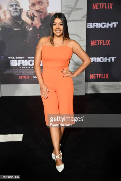Ydelays attends the Premiere Of Netflix's 'Bright' at Regency Village Theatre on December 13 2017 in Westwood California