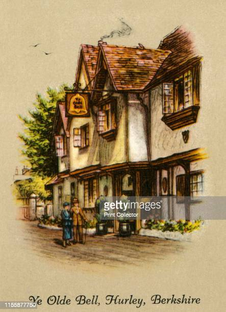 Ye Olde Bell, Hurley, Berkshire', 1936. The Olde Bell Inn claimed to be the oldest still-working inn in Britain, with parts dating to 1135, Grade II...