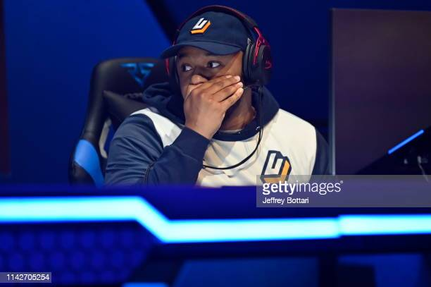 Yeah I Compete of Jazz Gaming communicates during the game against Cavs Legion GC during the midseason tournament The Turn on May 10 2019 at the NBA...