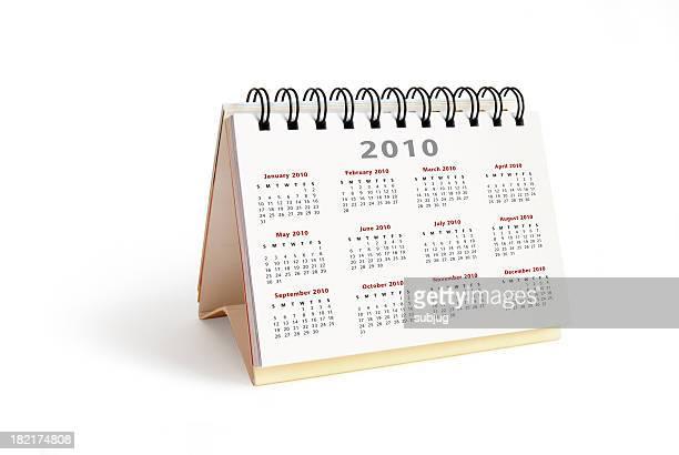 Year 2010 desktop calendar