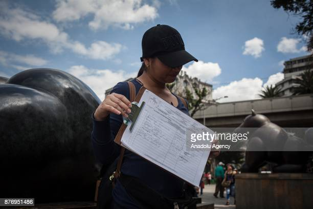 34 year old architect Rosa sells traditional food 'arepas' to provide her living in Medellin Colombia on November 20 2017 After a long trip from...