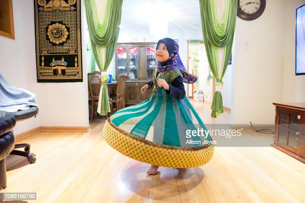 5 year old Azrina plays in her home on January 12 2019 in Chicago Illinois The Shukor family arrived in Chicago in 2014 from Malaysia Mohammad Shukor...